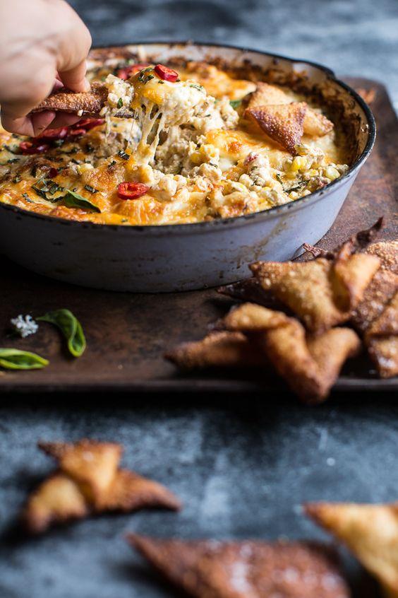 cheesy miso corn dip recipe