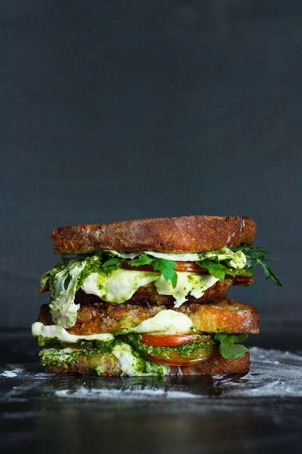 grilled caprese sandwich with arugula pesto recipe