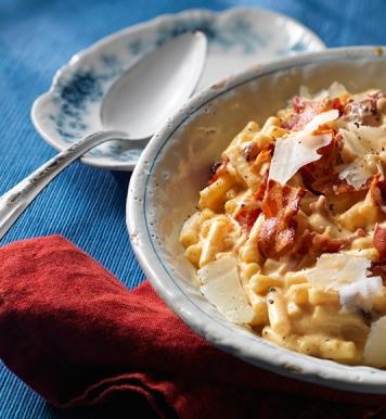 bacon cheddar macaroni cheese