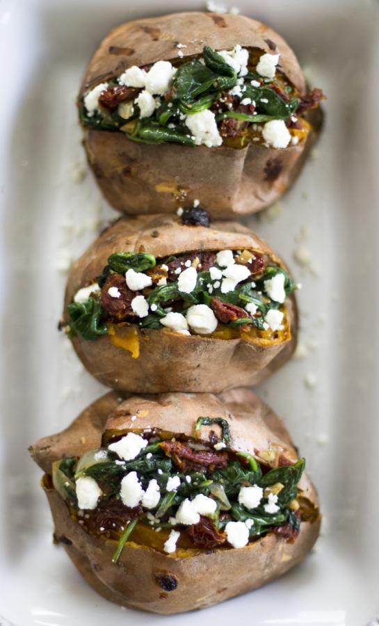 spinach sweet potato