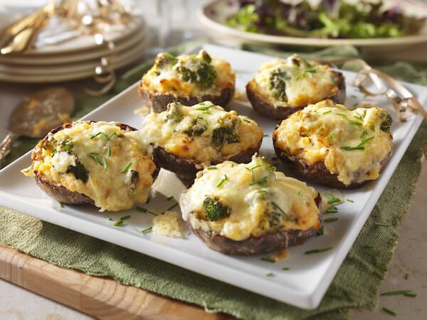 Super-cheesy Broccoli and Cheddar Twice-Baked Potatoes!
