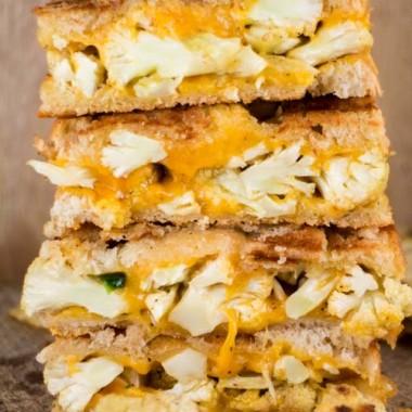 Cauliflower Jalapeno Grilled Cheese Sandwich