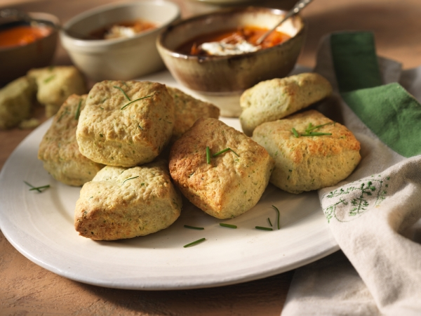 Cheddar and Chive Buttermilk Biscuits