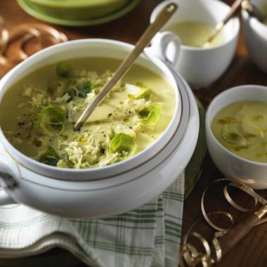 Sprout and Cheddar Soup