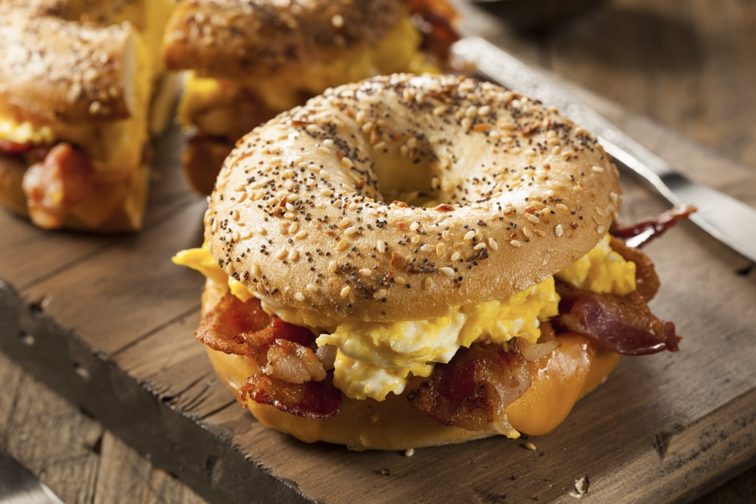 Egg, Bacon & Cheese Breakfast Bagel